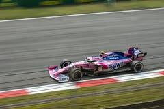 Fórmula 1 2019 Shanghai que competem o ponto fotos de stock royalty free