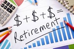 Fórmula simples da aposentadoria Imagem de Stock