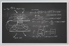 Fórmula y gráfico en un tablero Fotos de archivo