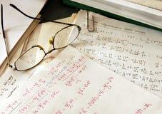Fórmulas de la física imagen de archivo