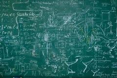 Fórmulas de la matemáticas Imagen de archivo libre de regalías