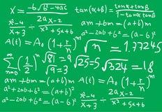 Fórmulas de la matemáticas stock de ilustración