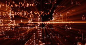 Fórmulas de la matemáticas en la pizarra metrajes