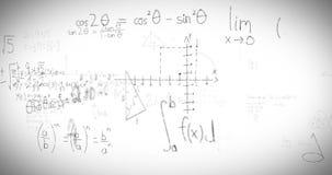Fórmulas de la matemáticas en whiteboard ilustración del vector