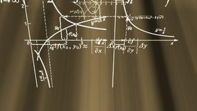 Fórmulas de la matemáticas que vuelan en rayos ilustración del vector
