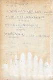 Fórmulas escritas en un papel viejo. Imágenes de archivo libres de regalías