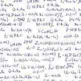 Fórmulas. Inconsútil. Imágenes de archivo libres de regalías