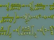 Fórmulas matemáticas Imagem de Stock Royalty Free