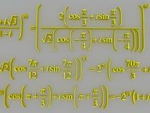 Fórmulas matemáticas Fotos de Stock Royalty Free