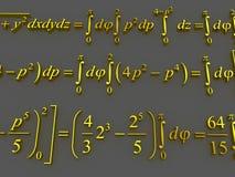 Fórmulas matemáticas Fotografia de Stock