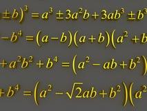 Fórmulas matemáticas Foto de archivo libre de regalías