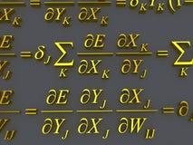 Fórmulas matemáticas Imagens de Stock