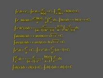 Fórmulas matemáticas Imagem de Stock