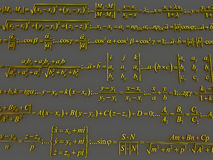 Fórmulas matemáticas Imagens de Stock Royalty Free