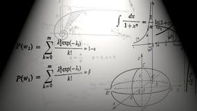 Fórmulas matemáticas e gráficos de voo Loopable ilustração stock