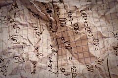 Fórmulas matemáticas escritas mano Imagen de archivo libre de regalías