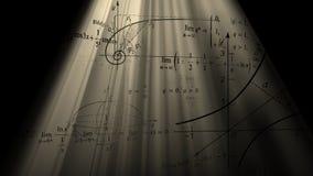 Fórmulas matemáticas y gráficos Imagen de archivo libre de regalías