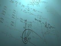 Fórmulas matemáticas y gráficos Fotos de archivo