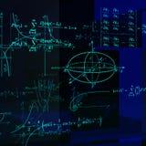 Fórmulas matemáticas y gráficos Imagen de archivo