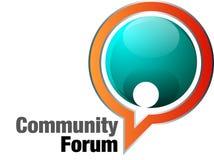 Fórum da comunidade Imagens de Stock