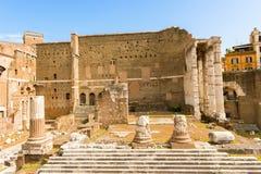 Fórum de Augustus em Roma, Itália imagem de stock