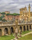 Fórum de Trajan, Roma, Italy fotografia de stock royalty free