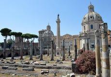 Fórum de Trajan, Roma, Italy imagem de stock