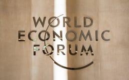 Fórum econômico de mundo em Davos (Suíça) imagem de stock