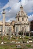 Fórum imperial em Roma Fotografia de Stock Royalty Free
