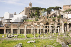 Fórum romano Aqui havia a vida social da cidade roma Imagem de Stock