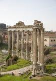 Fórum romano Aqui havia a vida social da cidade roma Imagens de Stock