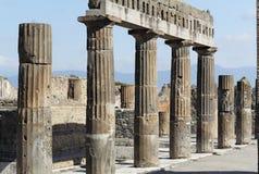 Fórum romano em Pompeii imagens de stock