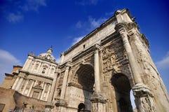 Fórum romano em Roma Foto de Stock