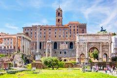 Fórum romano em Roma Fotografia de Stock Royalty Free
