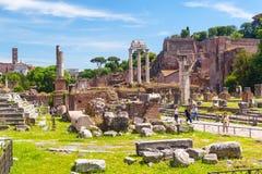 Fórum romano em Roma Fotos de Stock Royalty Free
