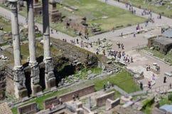 Fórum romano em Roma Imagem de Stock Royalty Free