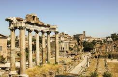 Fórum romano em Roma, Italy imagens de stock royalty free