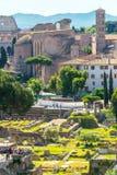 Fórum romano em Roma, Italy Fotografia de Stock