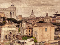 Fórum romano Retro tonificado Imagem de Stock
