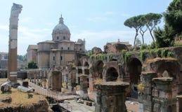 Fórum romano, Roma Foto de Stock Royalty Free