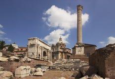 Fórum romano, Roma, Italy Foto de Stock Royalty Free