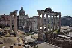 Fórum Romanum em Roma, Italy Foto de Stock Royalty Free