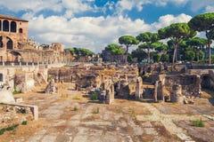 Fórum Romanum - Palatinum, Roma, Itália Imagens de Stock