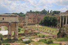Fórum Romanum, Roma Imagem de Stock