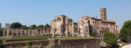 Fórum Romanum, Roma, Italy Imagem de Stock Royalty Free
