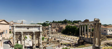Fórum Romanum, Roma, Italy Fotografia de Stock Royalty Free