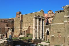 Fóruns imperiais, Roma, Itália fotos de stock royalty free