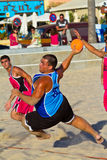 Fósforo da 19a liga do handball da praia, Cadiz Imagem de Stock