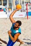 Fósforo da 19a liga do handball da praia, Cadiz Foto de Stock