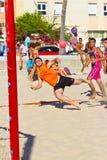 Fósforo da 19a liga do handball da praia, Cadiz Fotografia de Stock Royalty Free